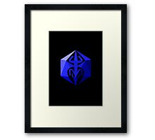 Dragon D20 Die Framed Print