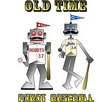 Old Time Robot Baseball Photographic Print