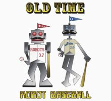 Old Time Robot Baseball Kids Clothes