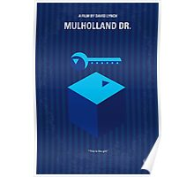 No323 My MULHOLLAND DRIVE minimal movie poster Poster