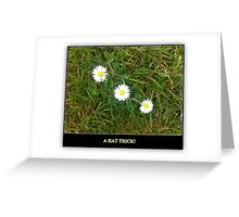 A HAT TRICK - 3 DAISIES IN A ROW Greeting Card