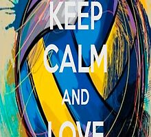 keep calm and love volleyball by Koalka