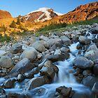 Heliotrope Creek on Heliotrope Ridge, Mount Baker, Washington by DArthurBrown