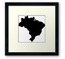 Map of Brazil Framed Print