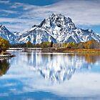 Mount Moran in Oxbow Bend  by Jim Stiles