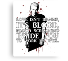 BLOOD; SPIKE (WITH TEXT) Canvas Print