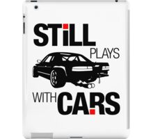 Still plays with cars (1) iPad Case/Skin