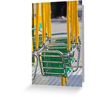 carousel in the park Greeting Card