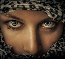 Woman with scarf by whitebeardcz
