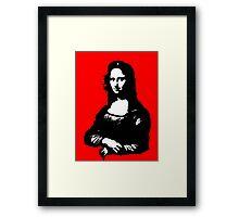 Mona Lisa- Che Guevara Style Framed Print