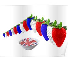 English Strawberries and Cream Poster
