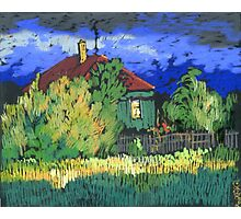 Late evening in a Russian village Photographic Print