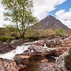 Buachaille Etive Mor and the River Coupall by Christopher Cullen