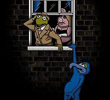 Banksy Muppets by Nasken