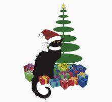 Christmas Le Chat Noir With Santa Hat Kids Clothes