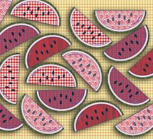 Cute Vintage Watermelons by mytshirtfort