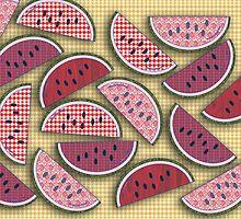 Cute Vintage Watermelons by mytshirtfort