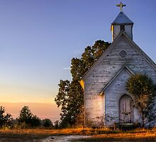 Country Church at Sunrise by Kyle Wilson
