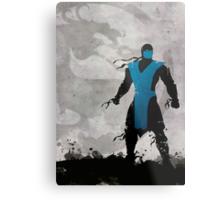 Mortal Kombat Inspired Sub-Zero Poster  Metal Print