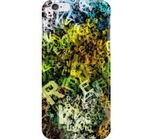letter sunflowers iPhone Case/Skin