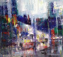 Rainy City Painting. by William Wright