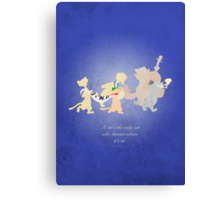 Aristocats inspired design (Alley Cats). Canvas Print