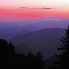 SUNSET,BLUE RIDGE PARKWAY by Chuck Wickham