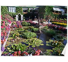 Italian Garden at the Butchart Gardens Poster