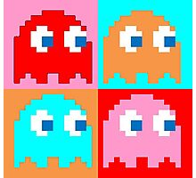 Pacman Ghosts Pop Art Photographic Print