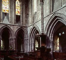 Altar and Pulpit Abbey Dore England 198405170054  by Fred Mitchell