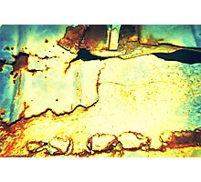 Grunge metal Photographic Print