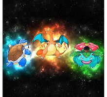 Indigo starter pokemon FINAL evolutions  by mehimsam