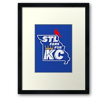 St Louis Fans for Kansas City Framed Print