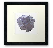Polygon Paper Meteorite Framed Print