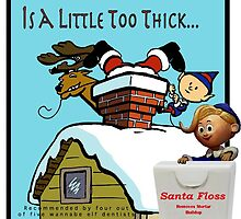 Santa Floss by FishHeadDesigns