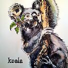 Christmas koala. Elizabeth Moore Golding 2014© by Elizabeth Moore Golding