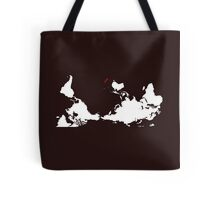 Upside Down World Map New Zealand Tote Bag