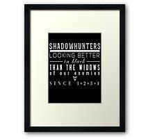 "The Mortal Instruments: ""Shadowhunters"" Framed Print"