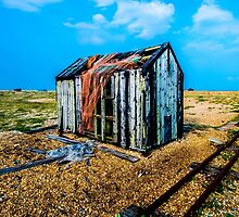 Abandoned shed on Dungeness Beach, Kent by Luke Farmer