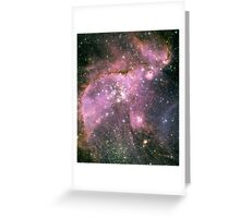 Young stars scuplt gas with powerful outflows Greeting Card