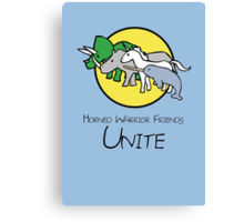 Horned Warrior Friends UNITE! Canvas Print