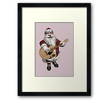 Santa Claus Plays Accoustic Guitar Framed Print