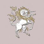 Silver and Gold Unicorn, tote, case, pillow by LoneAngel
