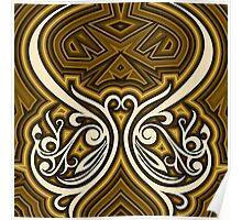 ornament shaped curved lines and abstract Poster