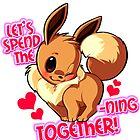 Pokemon valentine Eevee by rosawithlie