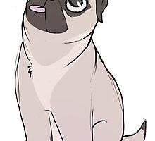 Apricot Pug Pup by Formaldepants