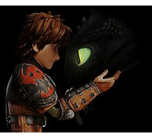 Hiccup & Toothless - Dragon Trainer Photographic Print