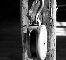 Block and Tackle 3 BW by marybedy
