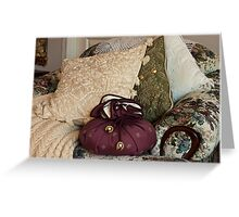 """A Chair Of Pillows"" Greeting Card"