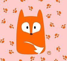 Cute Fox design artwork by artoftam